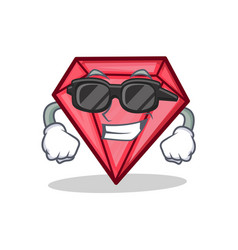 Super cool diamond character cartoon style vector