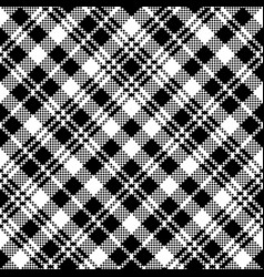 tartan black watch pixel plaid seamless pattern vector image