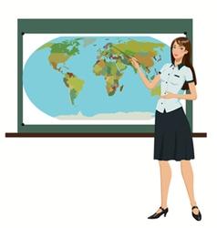 Teacher geography vector