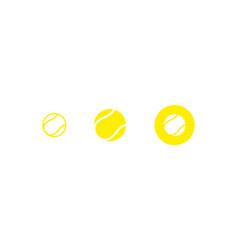 tennis ball icon set vector image