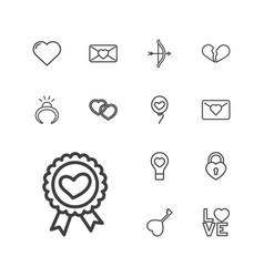 Valentine icons vector