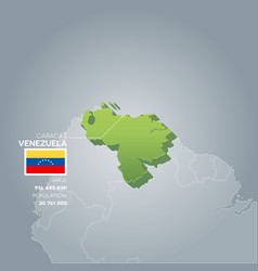 Venezuela information map vector