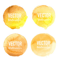 watercolour circle set on white background vector image