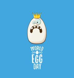 world egg day concept funky vector image