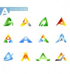 alphabet a symbols vector image vector image