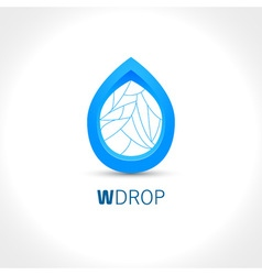 Blue water drop abstract icon design template vector