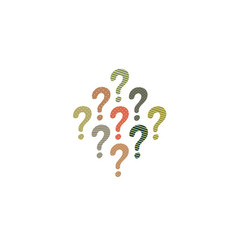 colorful question mark icon isolated on white vector image vector image