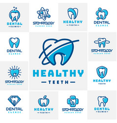 Dental label protection template vector