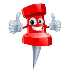 push pin man vector image vector image