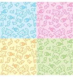 cat patterns vector image