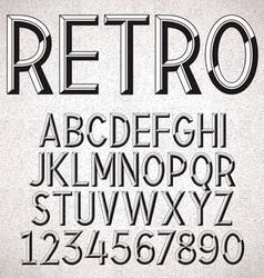 Metal Embossed Font vector image vector image