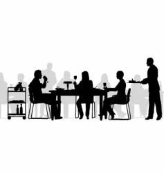 restaurant scene vector image vector image