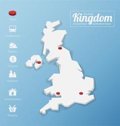 United Kingdom map vector image vector image