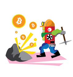 bitcoin red vector image