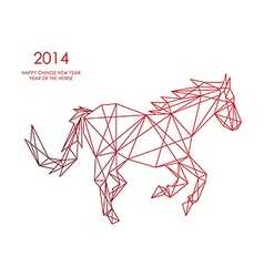 Chinese new year of the Horse triangle web shape vector image vector image