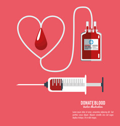 donate blood equipment care vector image vector image