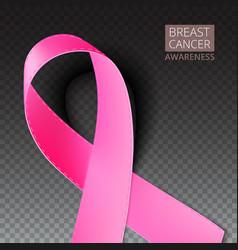 Pink breast cancer awareness ribbon vector image vector image