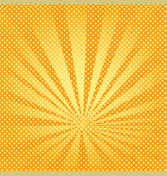 Pop art background rays of the sun are orange and vector