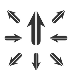 Arrow icon logo element for template vector