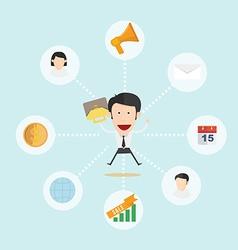 Happy business man vector image vector image