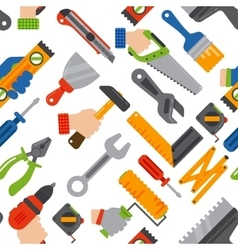 Home construction tools seamless pattern vector image vector image