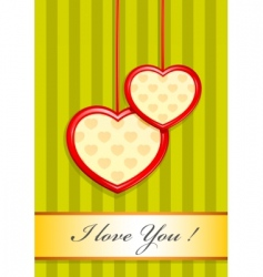 valentine as two hearts vector image vector image