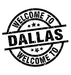 welcome to dallas black stamp vector image