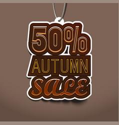 50 autumn sale sale tags design vector image