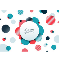 Abstract blue and red circles random pattern vector