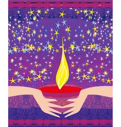 Abstract diwali celebration card vector
