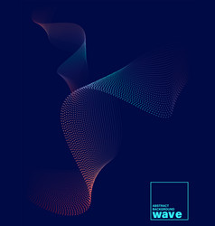 Abstract gradient wave shape on dark blue vector