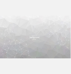 abstract gray geometric polygonal background vector image