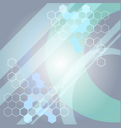 abstract medical science background with molecule vector image