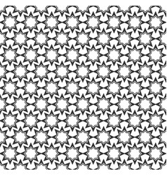 Abstract star geometric seamless pattern vector