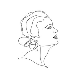 abstract trendy one line drawing woman vector image