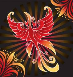 amazing firebird vector image