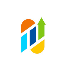arrow business finance logo vector image
