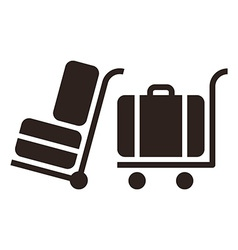 Baggage cart - travel icons vector