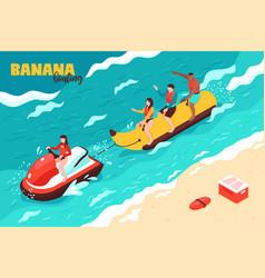 Banana boating vector