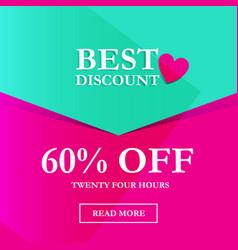 best discount 60 off vector image