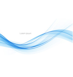 Blue color abstract wave design element vector