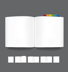 book blank page template for design vector image
