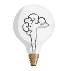 Brain lamp concept isolated vector