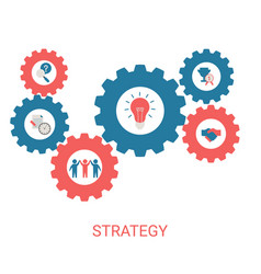 business and marketing strategy concept vector image