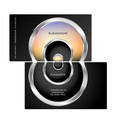 business card concept silver circles vector image