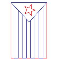 Catalonia the national flag europe spain vector