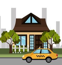 City transport design vector image