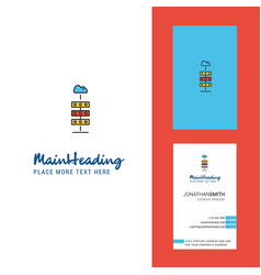 cloud computing creative logo and business card vector image