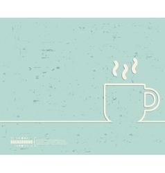 Creative coffee cup Art vector