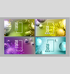 Creative invitation card celebrating 2020 vector